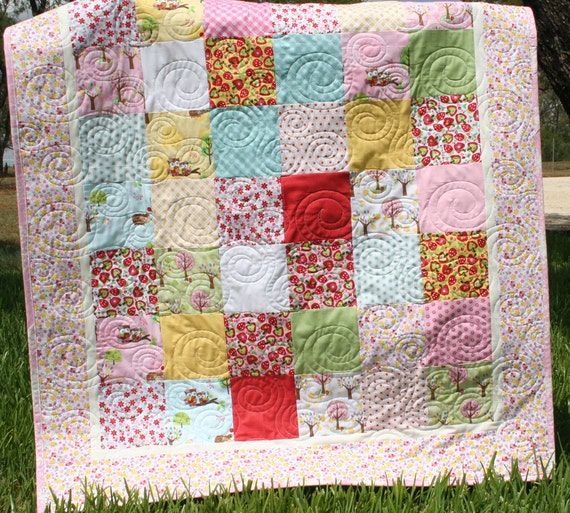 Hoo's in the Forest Baby Quilt