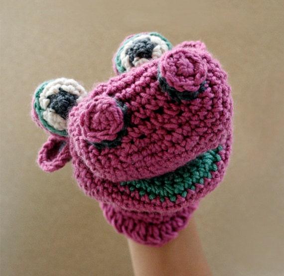 Puppet - purple hippo