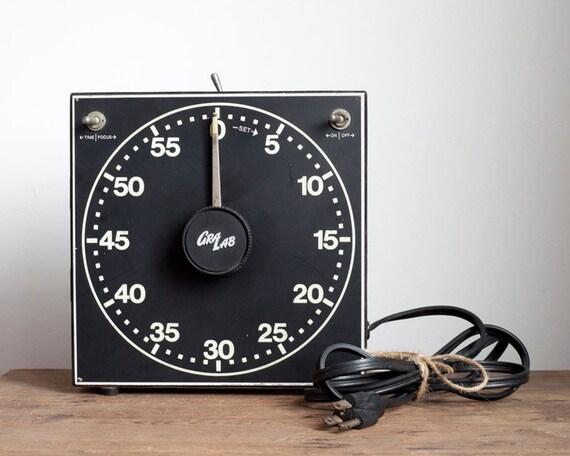 GraLab Darkroom Timer - Minutes and Seconds, Industrial Timer, Works