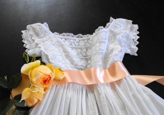 Vintage Christening Gown English w/ lavish and finely Handworked Embroidery...Stunning gown