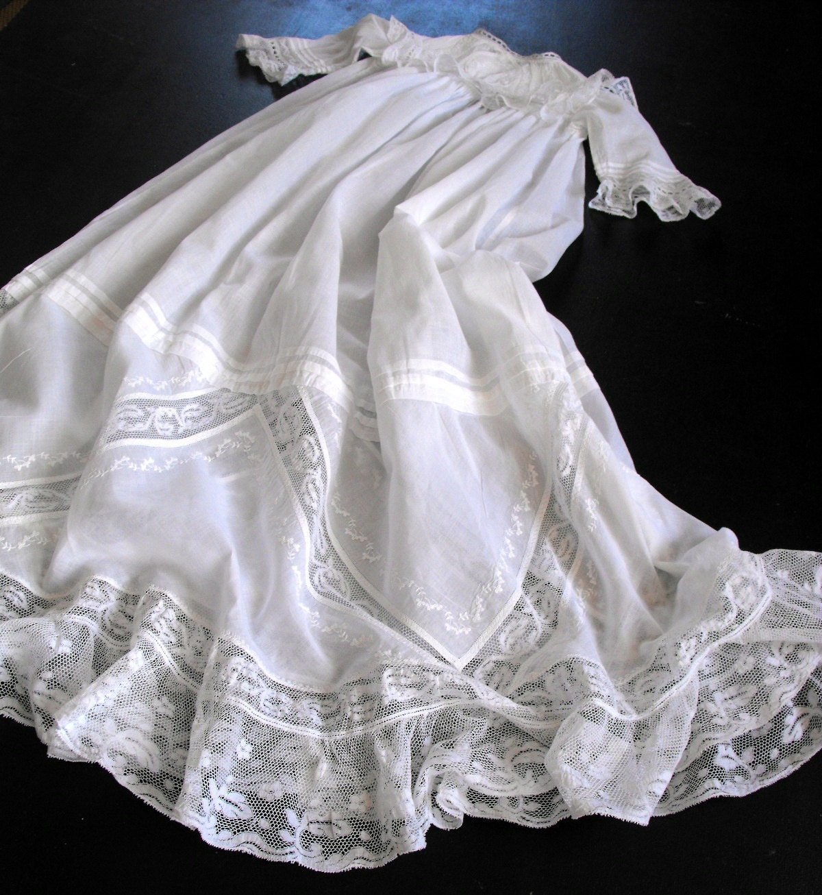 Vintage Victorian Christening Gown Irish W Fine Handworked