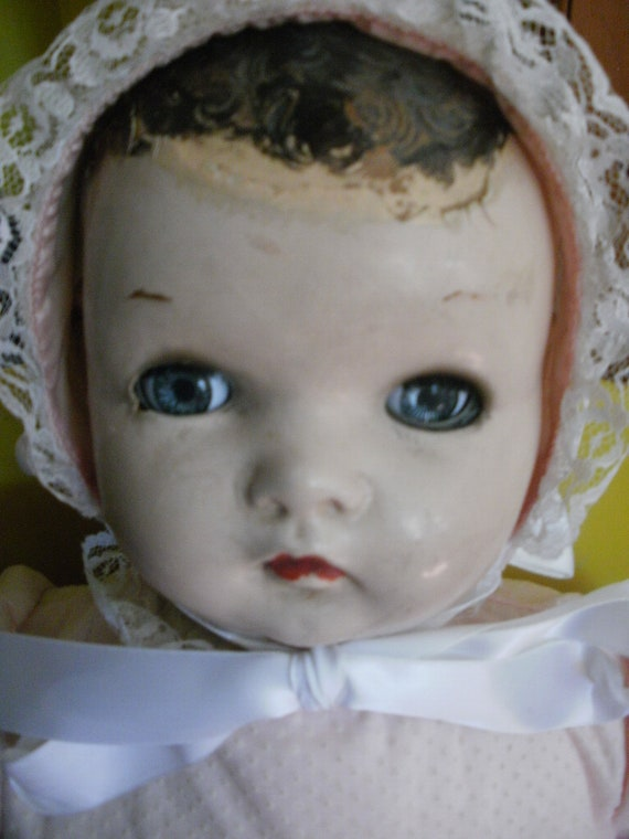 Antique Baby Doll, by Ideal, needs repair or restoration.