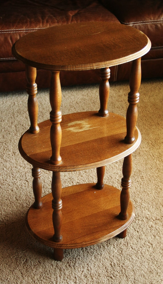 Vintage Three (3) Tiered End Table / Plant Stand / Night Stand