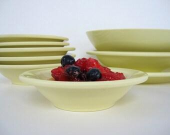 Vintage Melmac Bowl Set Boonton Yellow Fruit Dessert Serving Boontonware