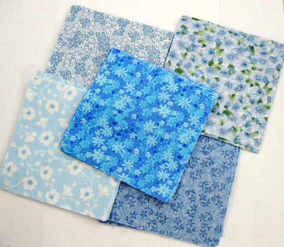 Blues 114 -  40 4x4 Quilt Squares