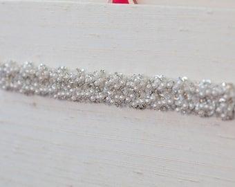 Pearl Confetti Beaded Belt