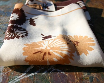 Floral Crepe Hankie from the 1930s