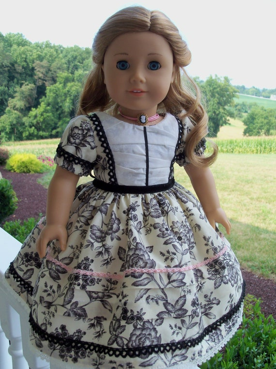 American Girl 1850s Gown for Marie Grace or Cecile