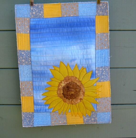 Quilt Kit Solitary Sunflower