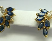 Understaed Elegance! 2.40tcw Sapphire & Diamond Earrings 14k