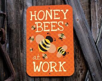"Honey Bees At Work 12X18"" (Tangerine)"