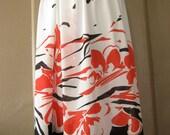 1960s sheer floral midi skirt