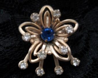 """vintage floral starburst """""""" brooch and pendant"""