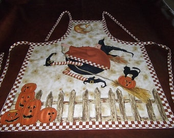 Halloween Apron - Flying Witch