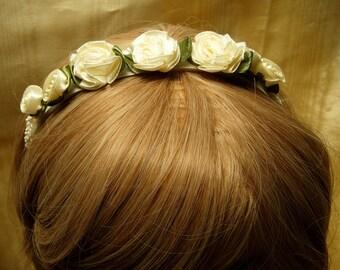Bridal Flower headpiece, June Wedding,Bridal Headband,Summer wedding,costume headpiece,wedding headpiece, Bridal headband, Wedding Headband