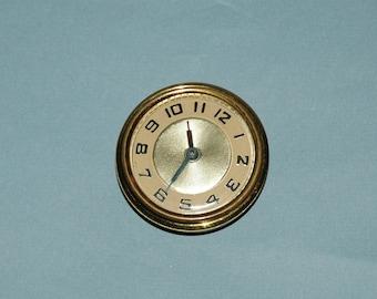 Vintage 1930s Windup Pocket Clock or Clock Insert (Working)