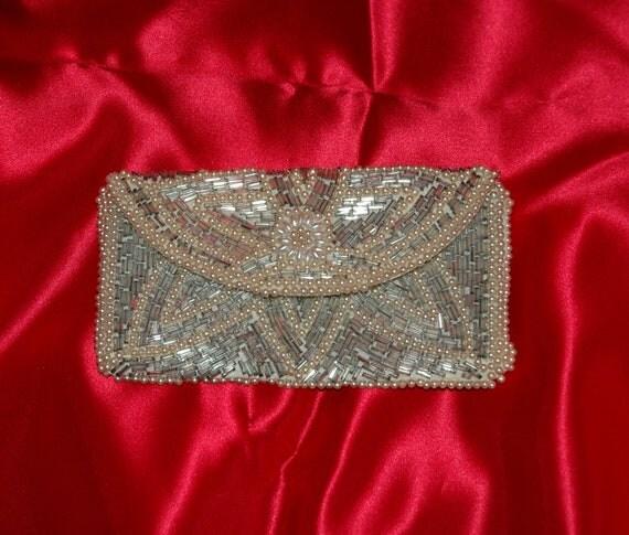 Vintage 1950s - 1960s Beaded Clutch/Evening Bag