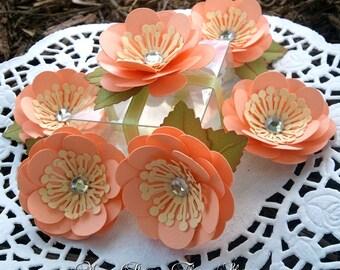 Paper Flowers -Wedding Favors - Embellishment -  Handmade - Made to Order - SET OF 50