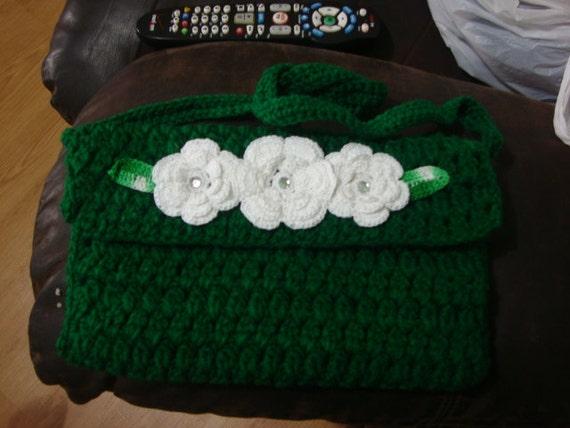 Green Crochet Purse
