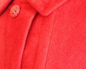 Vintage Cashmere Tomato Red Coat