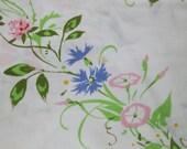 Trailing Floral Vine Vintage Twin Flat Sheet