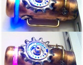 Steampunk 16GB USB Flash Drive Model 361 in a Tin Box, Double Indicator Lights