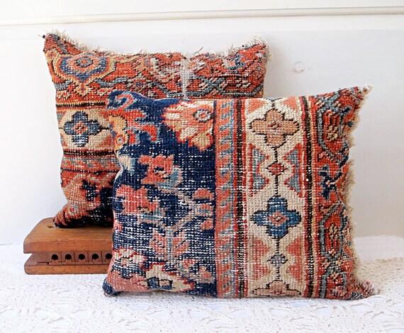 Persimmon Oriental Rug Pillows, Gift Set