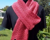 PDF Download Knit Pattern for the Deceptively Easy Wavy Lace Scarf