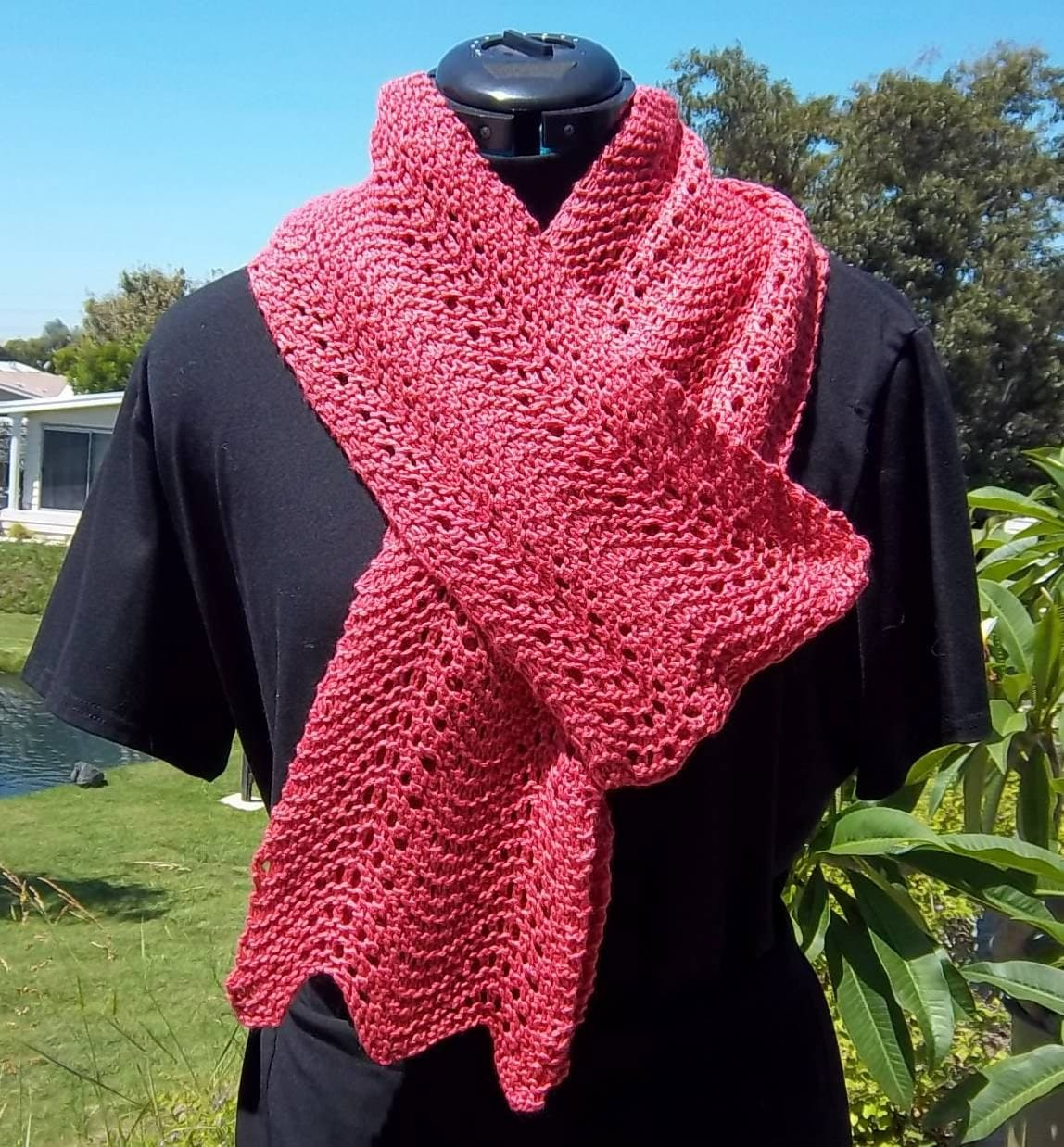 Pdf download knit pattern for the deceptively easy wavy lace scarf bankloansurffo Choice Image