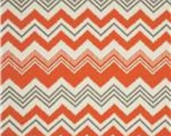 "NEW- Pillow Cover Cushion  22x22""  Chili Pepper Ikat Suzani Orange Gray Zazzle Set of 2"