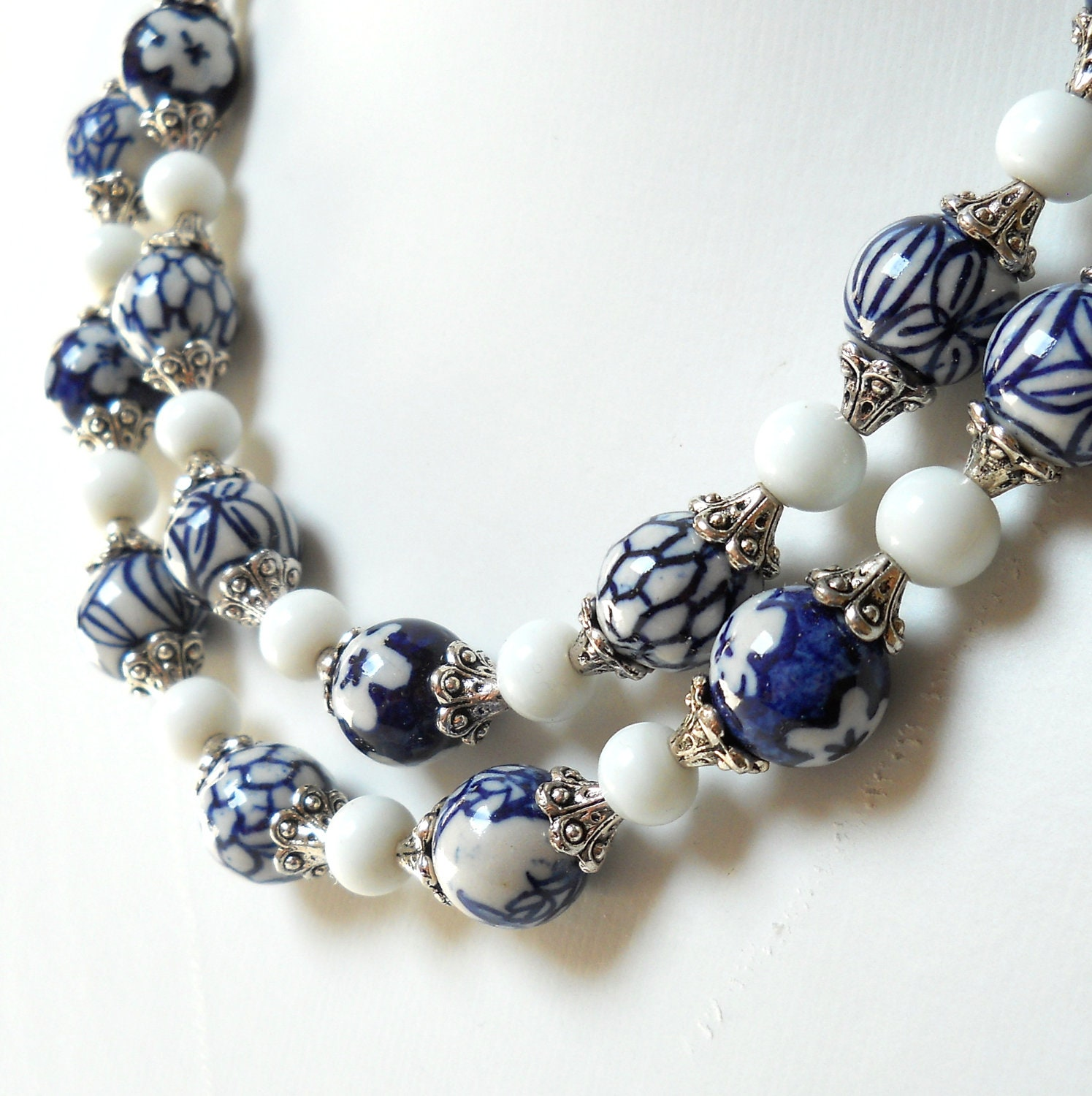 Delft Blue Necklace Blue And White Delft Blue Jewelry