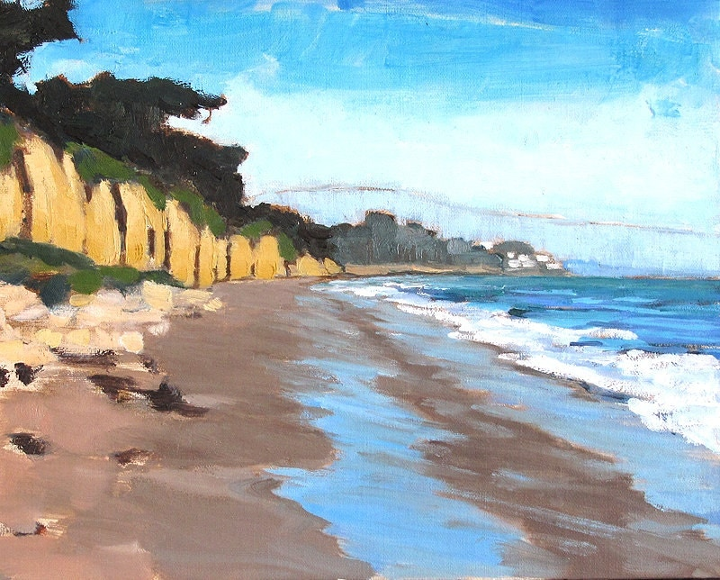 Santa Barbara Beach Painting, California Landscape by Kevin Inman Art