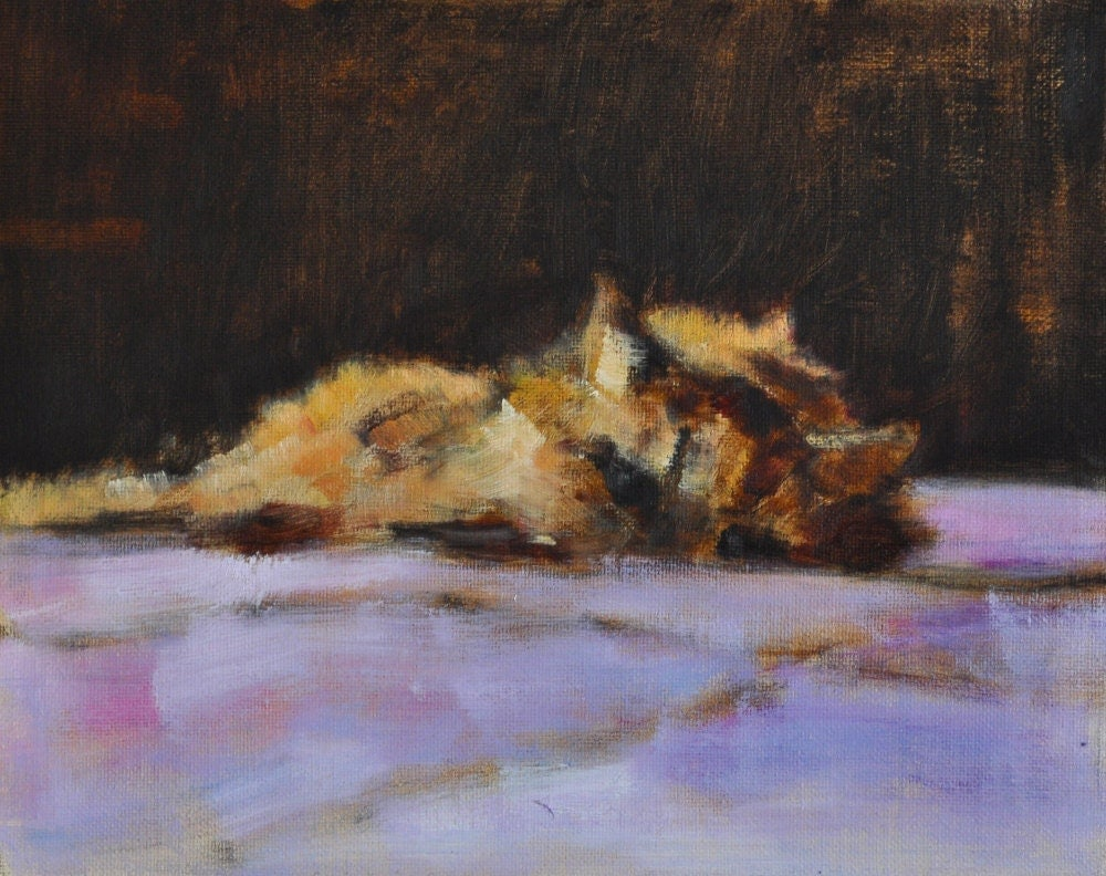 Orange Persian Cat Painting San Diego California