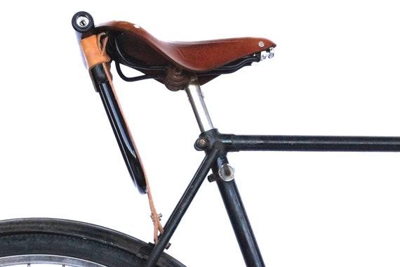Bicycle U Lock Holster Black Leather