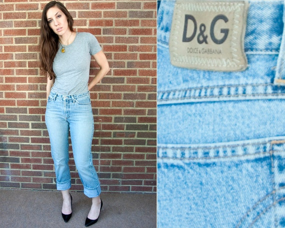 90s Vintage DOLCE and GABBANA Distressed Jeans (S)