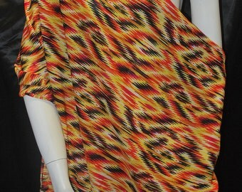 Rayon Challis Woven Fabric Natural Fiber Beautiful Tribal Print 100% Rayon