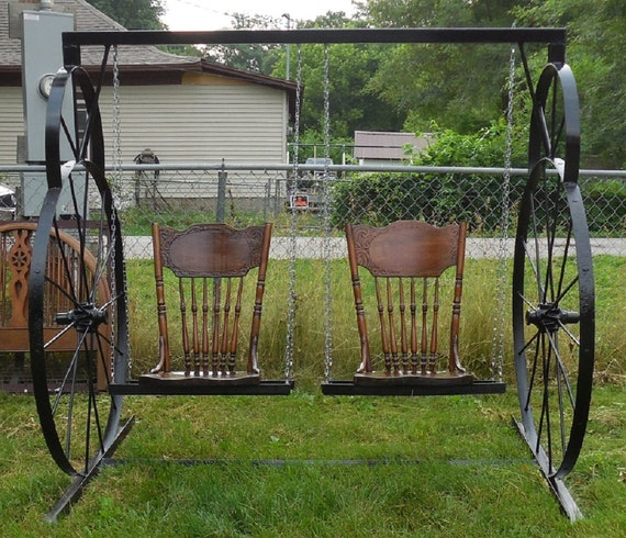 Items Similar To Antique Vintage Hand Made Wagon Wheel