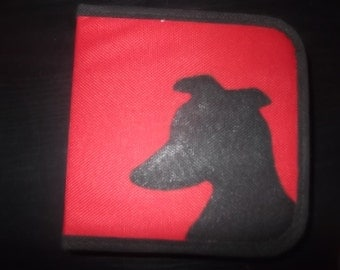 CD Case with Black Greyhound - Red
