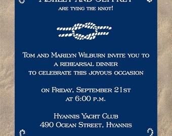 Pretty rope invitation