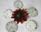 Distressed Vintage Pocket Watch Faces for Assemblage, or Steampunk Collage - Collection 18