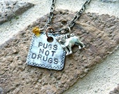 Pugs Not Drugs Necklace