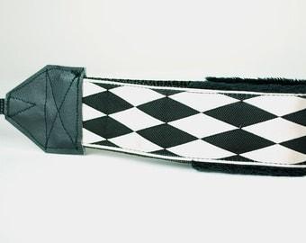 Camera Wrist Strap - DSLR Camera Strap - Black and White - Nikon Strap - Canon Strap - Padded Camera Strap - Ivory Quin