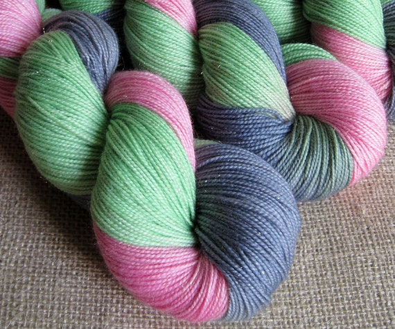 Candy Mountain - SW Merino, Nylon & Stellina Fingering Sparkle Yarn - Hand Dyed - 438 yds