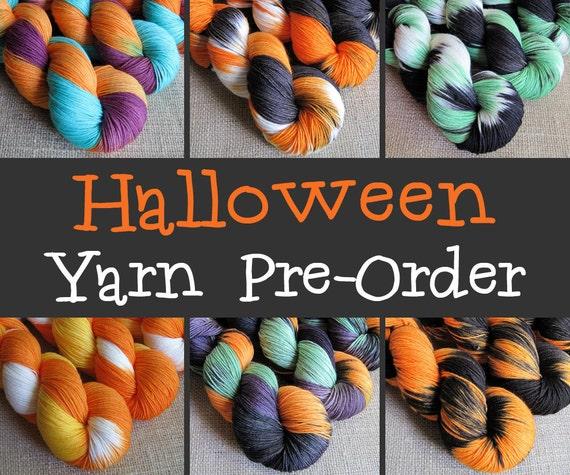 Halloween Yarn PRE-ORDER - Fingering Sock Yarn - 462 yds