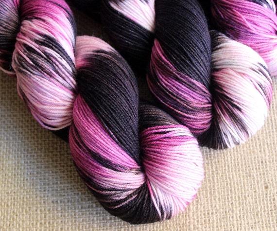 Roller Derby Diva - SW Merino & Nylon Sock Fingering Yarn - Hand Dyed - 462 yds