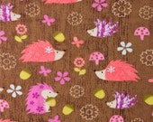 Hedgehogs - Cotton FLANNEL Fabric BTY