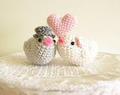 Bird Cake Topper, Wedding Cake Topper, Love Birds, Romantic Cake Topper, Kissing Birds