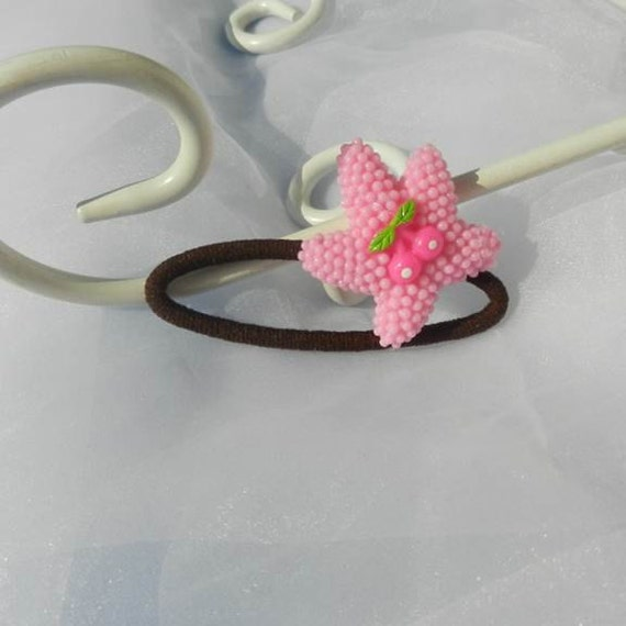 Pink Starfish Ponytail hair holder