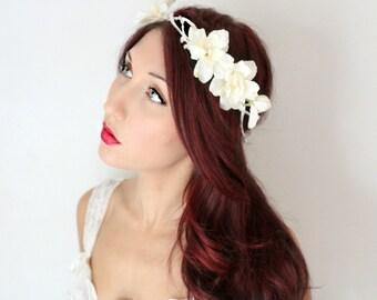 Wedding Tiara, Flower Crown by DeLoop