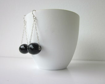 Sjans sterling silver earrings with onyx